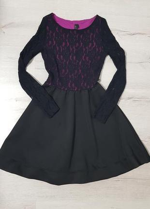 Нарядное гипюровое пышное платье