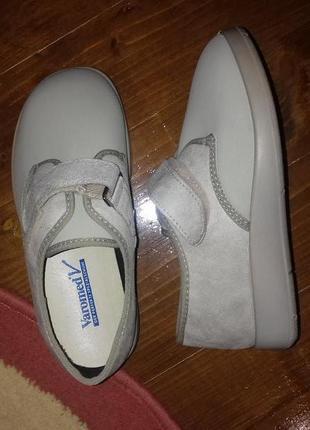 Varomed обувь на широкую стопу ортопедическая диабетическая туфли тапочки