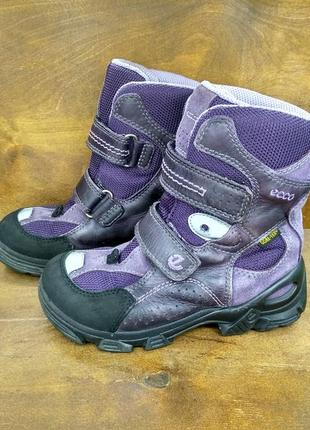 Ботиночки ботинки сапожки ecco gore-tex ( 28 размер )