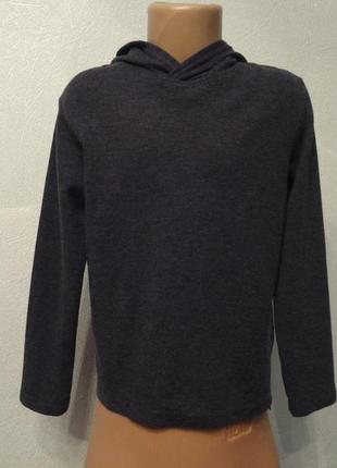 Кофта с капюшоном, свитер, реглан, пуловер серый 8 9лет