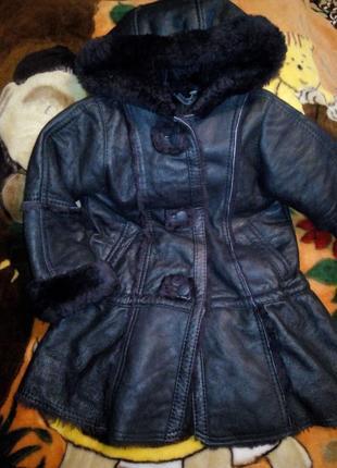 Очень тёплая натуральная дублека-куртка на овчине