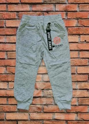 Спортивные штаны р. 98-128 для мальчика (серые). венгрия