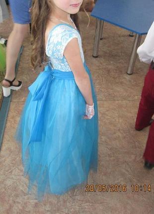 Ручная работа!прелестное нарядное супер платье 6-8 лет