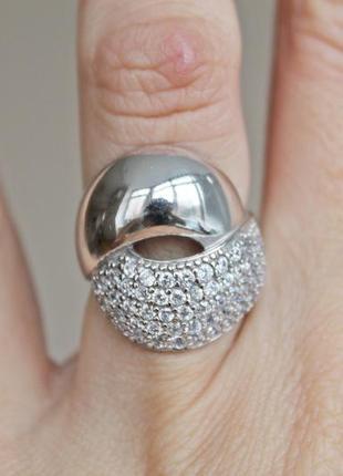 Серебряное кольцо пунш р.17,5