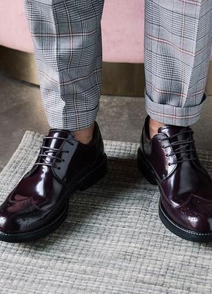 Кожаные туфли ecco kenton, 41 размер