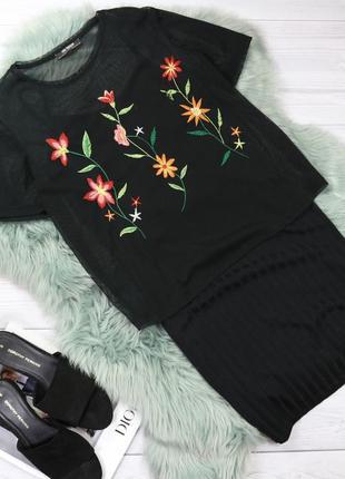 Базовое платье в рубчик на тонких бретелях