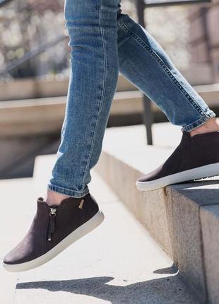 Кожаные ботинки ecco soft 7 zip