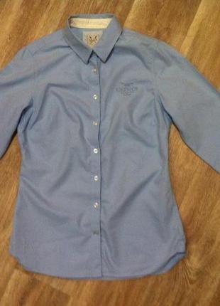 Котоновая рубашка приталеная
