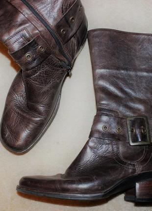 Повністю шкіряні чоботи крутого бренду wolky