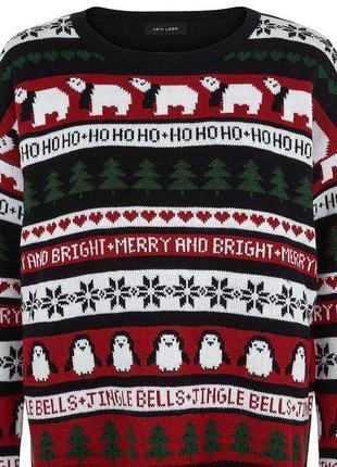 Классный новогодний свитер new look.размер: 12