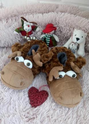Тапочки игрушки #подарочные тапочки#комнатные тапочки