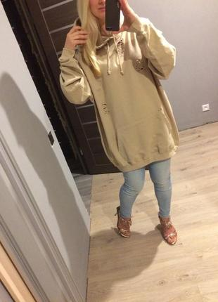 Супер тренд 🔥 платье свитшот рванка цвета camel батал