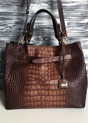 Кожаная сумка брендовая russell & bromley