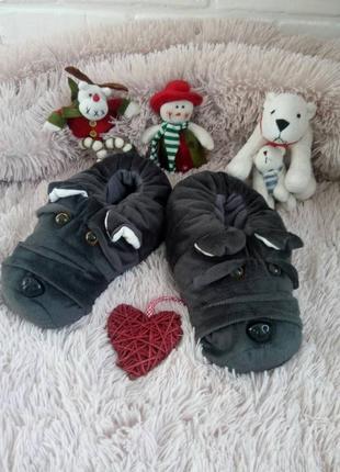 Тапочки игрушки#подарочные тапочки#комнатные тапочки