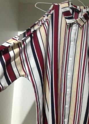 Стильная рубашка с открытыми плечами.