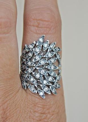 Серебряное кольцо ива р.19
