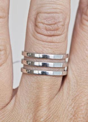 Серебряное кольцо троя р.19