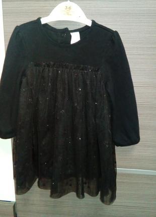 Платье-боди с фатиновой юбкой фирмы h&m 6-9 мес.