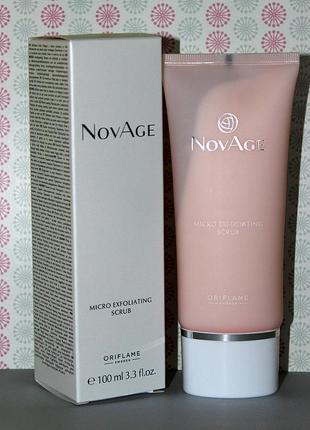 Обновляющий скраб для лица novage by oriflame