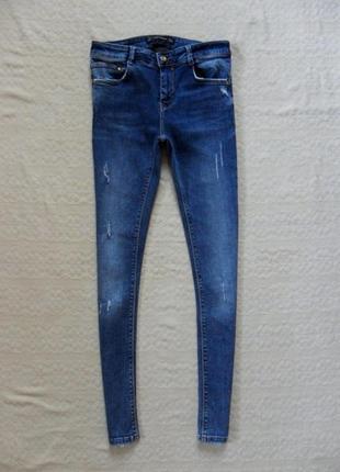 Стильные джинсы скинни zara, s размер