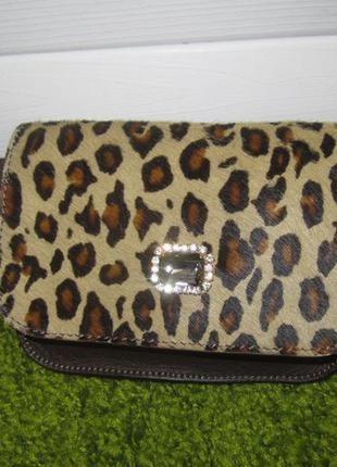Дизайнерская кожаная сумка на пояс, итальянского дома моды max mara нат. кожа