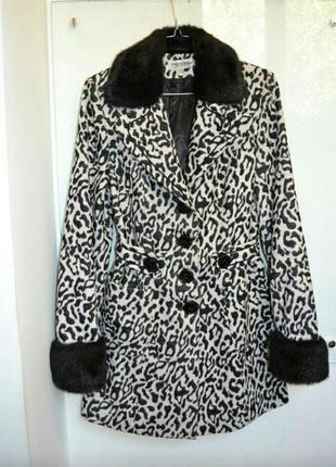 Пальто зебра / леопард