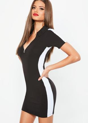 Missguided чорно-біла сукня в спортивному стилі