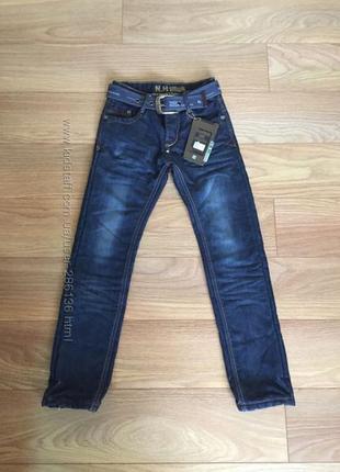 Тёплые зимние джинсы на флисе на 10-12 лет