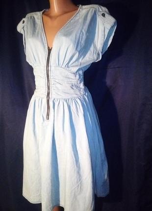 Лёгкое джинсовое платье миди