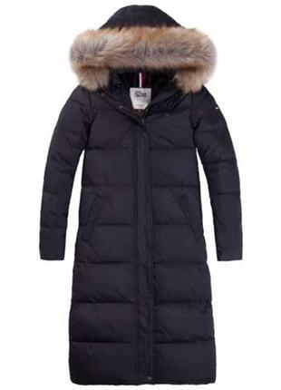 Пуховик женский парка женская куртка зимняя tommy hilfiger пальто пуховое оригинал новый