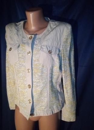 Интересный пиджак с люрексом gelco