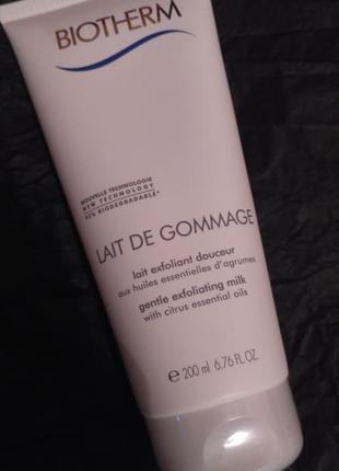 Молочко-гоммаж для тела biotherm body lait de gommage gentle exfoliating milk 200мл