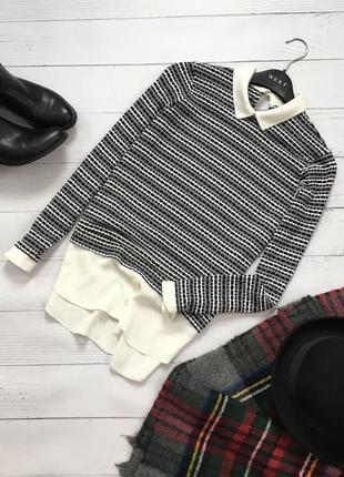 Комбинированный свитер рубашка dorothy perkins