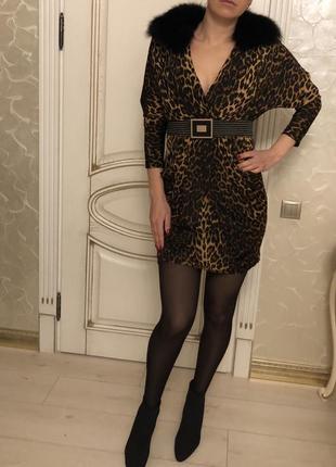 Вечернее платье леопардовое