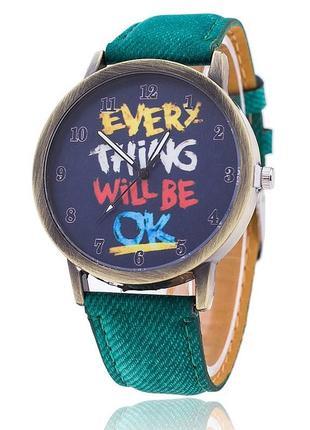 Часы наручные мотивирующие everything will be ok