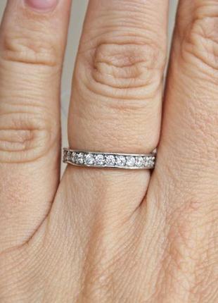 Серебряное кольцо невеста р.17