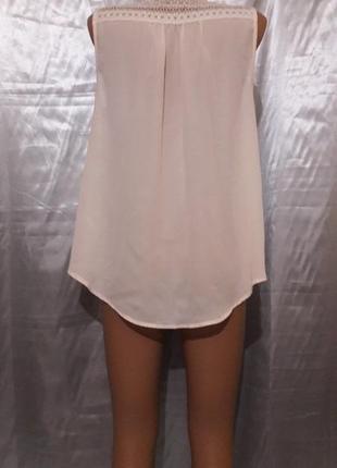 Кремовая блуза с прошвой2 фото