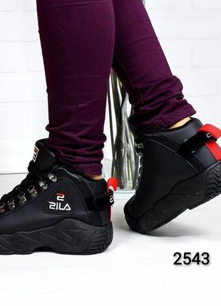 d30586e9594606 Женские зимние высокие кроссовки хайтопы на мягком меху кросівки зимові