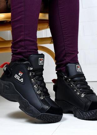 36-41 женские зимние высокие кроссовки хайтопы на мягком меху кросівки зимові