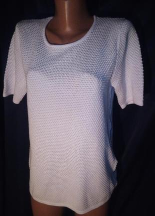 Бомбезные белый джемпер с коротким рукавом