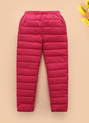 Фирменные зимние теплые брюки, джинсы на девочку на меху р. 110