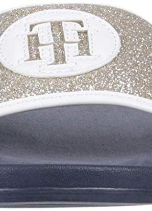 Шлепанцы женские tommy hilfiger us7 eu 37 38 24, 5 см шлепки оригинал