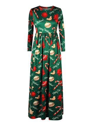 Яркое праздничное новогоднее платье