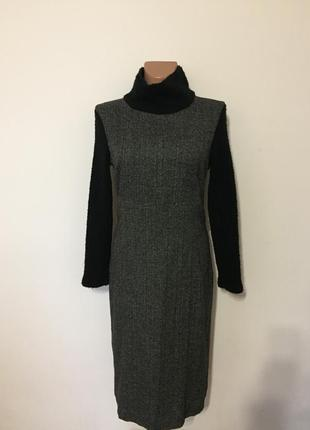 -50%%% теплое платье миди р.s-m