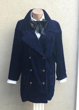 Жакет,пиджак,куртка из крупного вельвета,хлопок,стиль кэжуал,большой размер,casuals