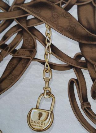 Gucci шелковый платок  *ограниченный тираж*