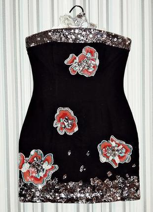 Коктейльное платье s-м на 42-44 размер
