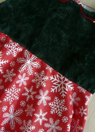Последний размер!симпатичное платье со снежинками р1043