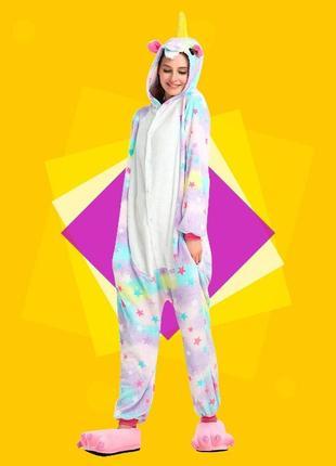 Пижама женская кигуруми звездный единорог разные модели ( s- l )