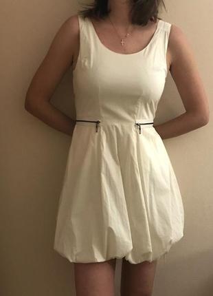 Платье selected femme нарядное коктейльное с юбкой баллон желтое воздушное р. 36 - 38